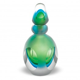 Murano Style Glass Mantra Perfume Bottle Green