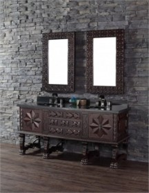 "Balmoral 72"" Double Vanity Cabinet in Antique Walnut - James Martin 150-V72-ANW"