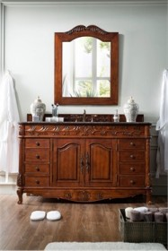 "St. James 60"" Single Granite Top Vanity in Cherry - James Martin 206-001-5101"