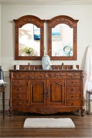 "St. James 60"" Double Granite Top Vanity in Cherry - James Martin 206-001-5502"