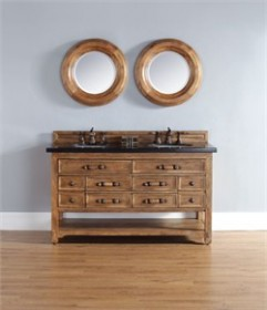 "Malibu 60"" Single Vanity Cabinet in Honey Alder - James Martin 500-V60S-HON"