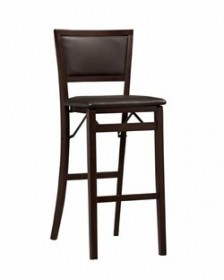 Keira Pad Back Folding Bar Stool - Linon 01832ESP-01-AS-U
