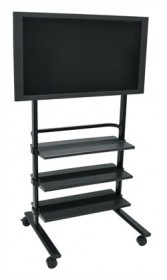 Universal LCD TV Stand w/Three Shelves - Luxor WFP100-B