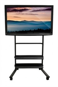 Universal LCD TV Stand w/Two Shelves - Luxor WFP200-B
