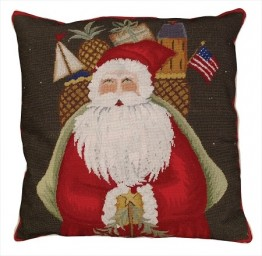 Santa with Gifts Decorative Pillow