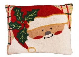 Plaid Santa Decorative Pillow