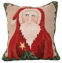 Santa Star Tree Decorative Pillow