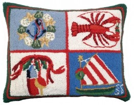 Nautical Christmas Decorative Pillow