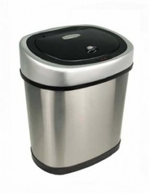 Nine Stars DZT-12-9 Stainless Steel 3.2 Gallon Touchless Trash Can