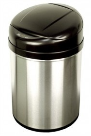 Nine Stars DZT-31-8 Stainless Steel 8.2 Gallon Round Touchless Trash Can