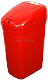 Nine Stars DZT-33-1RD Red 8.7 Gallon Touchless Trash Can