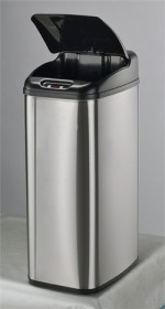 Nine Stars DZT-50-6 Stainless Steel 13.2 Gallon Touchless Trash Can