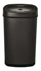 Nine Stars DZT-50-9BK Black 13.2 Gallon Touchless Trash Can