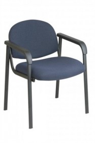 Office Star EX35 Visitor Chair, Designer Plastic Shell Back, Steel Frame and Legs with Arms