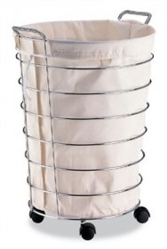 Jumbo Laundry Basket with Canvas Bag - Organize It All 1761