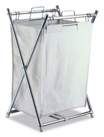 Folding Hamper with Canvas Pull-out Bag - Organize It All 5760
