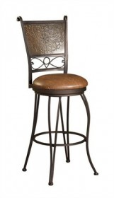Stamped Back Bar Stool in Bronze w/ Muted Copper Powell 222-847