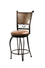 Stamped Back Counter Stool in Bronze w/ Muted Copper Powell 222-918
