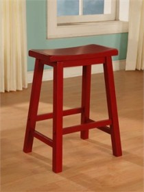 Color Story Crimson Red Counter Stool Powell 286-430