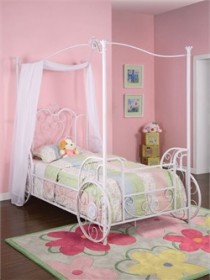 Princess Emily Carriage Canopy Twin Size Bed  Powell 374-042
