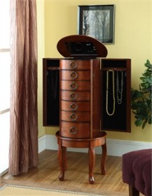 Woodland Cherry Jewelry Armoire Powell-605-318