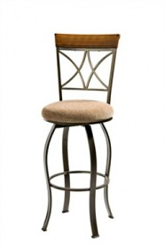 Hamilton Swivel Bar Stool in Cherry with Metal Powell 697-481