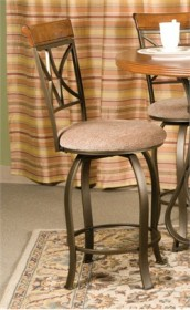 Hamilton Swivel Counter Stool in Cherry with Metal Powell 697-726