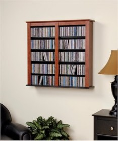 Black Double Wall Mounted Storage - Prepac BFW-0349