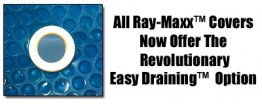 Round Ray-Maxx Blue / Black Solar Pool Cover