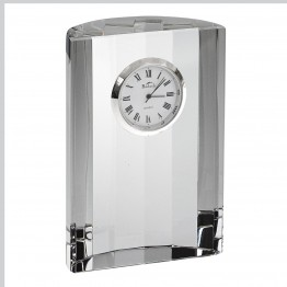 Half Moon Crystal Clock H4.5X3.5 inches