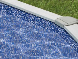 30' Round Sunlight Crystal Overlap Swimming Pool Liner