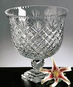 Palace Gates Cut Crystal Centerpiece Punch Bowl D