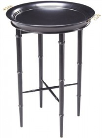 Bamboo Tray Table in Ebony Finish (Shipping Included) - Sterling Industries 6040929