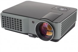 Dec. 2015 Model - Vibrant A1 LED Projector - 2,200 Lumens, 1080 HD -- Free Ceiling Mount + Carrying Case