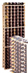 Country Pine 126 Individual Bottle Rack Wooden Wine Storage Rack- CP6