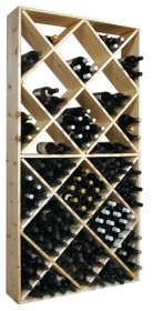 Country Pine Solid Diamond Bin Rack - Wooden Wine Rack Storage Rack- CPB