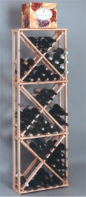 Country Pine Open Diamond Cubes Wine Rack Bottle Wood Wine Rack- CPODC