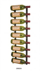 3 Feet High Vintage View Single Deep - Metal Wall Mounted Wine Rack - VVSD36