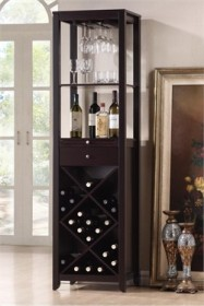 Baxton Studio Austin Brown Wood Modern Wine Tower RT190-OCC