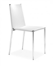 Set of 4 - Alex Chair in White Finish Zuo Modern 101106 (Shipping Included)