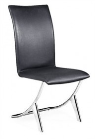 Set of 2 - Delfin Chair in Black Finish Zuo Modern 102101 (Shipping Included)