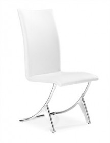 Set of 2 - Delfin Chair in White Finish Zuo Modern 102102 (Shipping Included)
