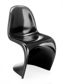 Set of 2 - S Chair in Black Finish Zuo Modern 103181