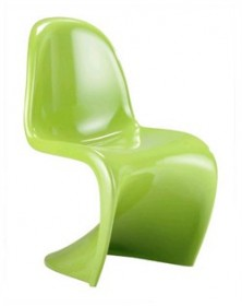 Set of 2 - S Chair in Green Finish Zuo Modern 103185