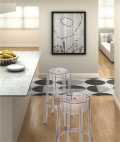 Anime Barstool Transparent - Zuo Modern 106106 (Shipping Included)