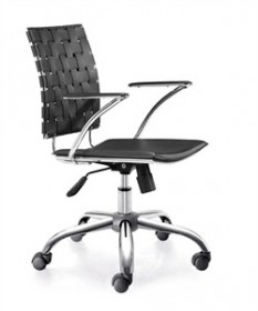 Criss Cross Office Chair in Black Finish Zuo Modern 205030 (Shipping Included)