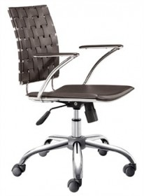 Criss Cross Office Chair in Espresso Finish Zuo Modern 205032 (Shipping Included)