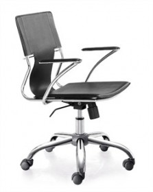 Trafico Office Chair in Black Finish Zuo Modern 205181 (Shipping Included)