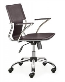 Trafico Office Chair in Espresso Finish Zuo Modern 205183 (Shipping Included)