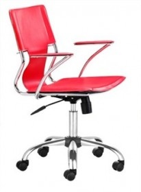 Trafico Office Chair in Red Finish Zuo Modern 205184 (Shipping Included)